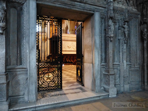 The entry door to the choir