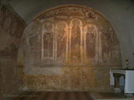 Romanesque fresc
