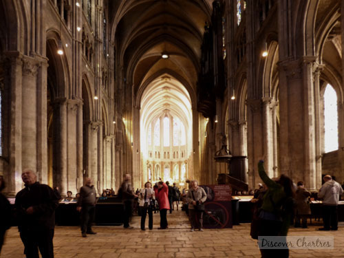The central nave of Notre Dame de Chartres