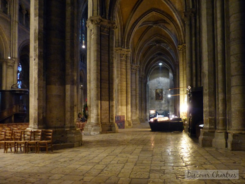 The north aisle of Chartres cathedral