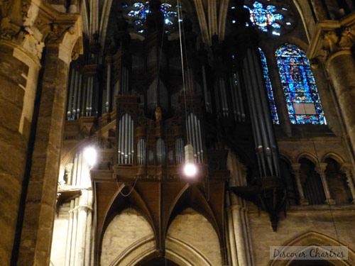 The pipe organ in Chartres cathedral