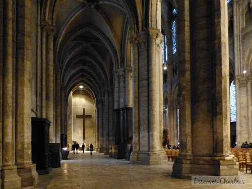The south aisle of Chartres cathedral