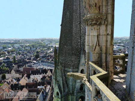 Chartres cathedral north tower balcony