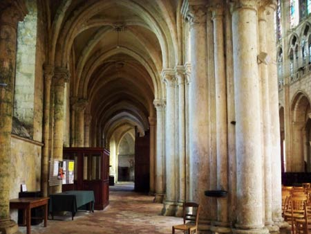 The side aisle of St. Pierre church, Chartre