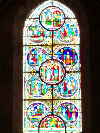 One of the window in Saint Pierre church