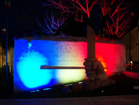 Monument of Jean Moulin at nigh