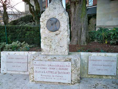 In memory of Jean de Latrre de Tassigny