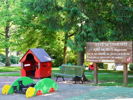 The children playground at Chartres Horticultural garden