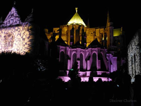 Chartres Cathedral on The Lights Festival