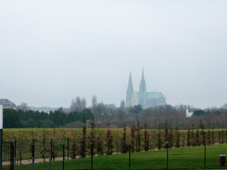 Chartres L'Odyssée - view over the cathedral