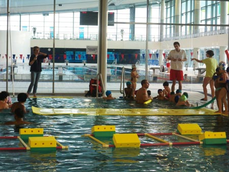 The training pool in L'Odyssée Chartres