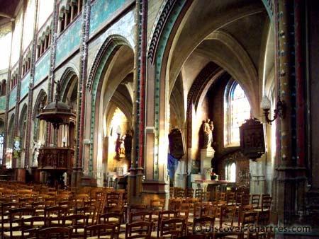 Saint Aignan, Chartres - the interior