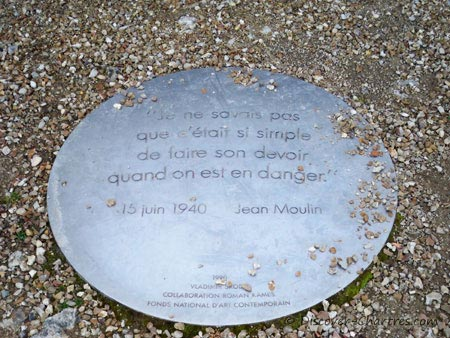 A commemorative plaque of Jean Mouli
