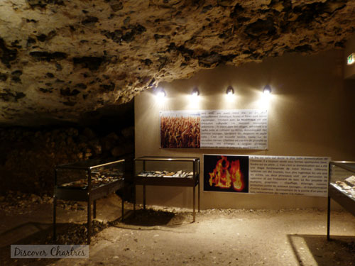 Prehistoric stone tools and weapons exhibition