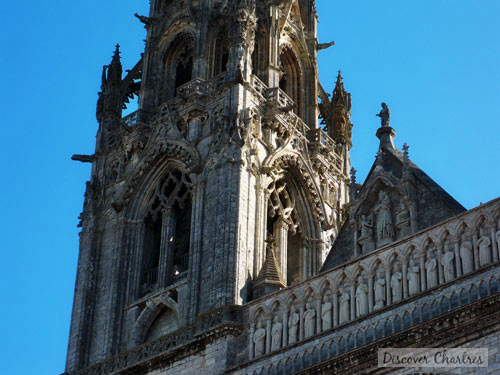 North tower of Chartres cathedral