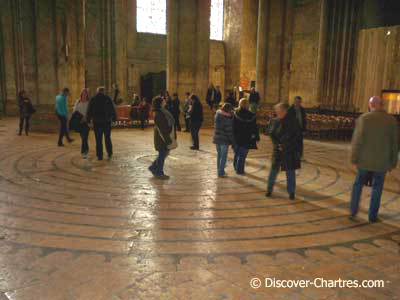 Walking the labyrinth at Chartres cathedral