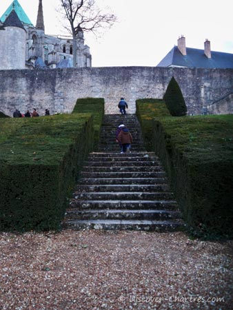 The step stairs