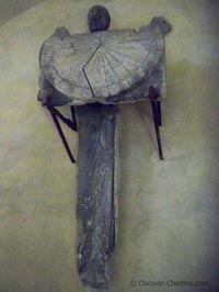 Angel statue holding sundial