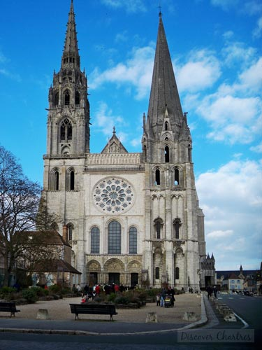 The West Front of Chartres Cathedral With Its Two Towers