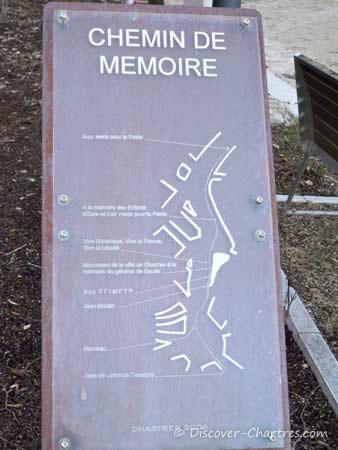 Chemin de Mémoire map board