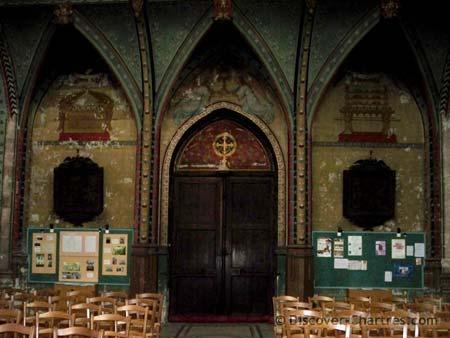 St. Aignan church, Chartres - the central portal