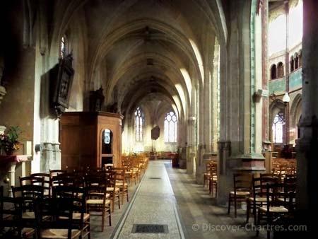 St. Aignan church, Chartres - the Gothic vaul