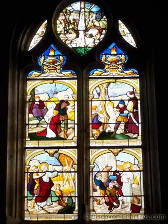 Stained-Glass window in St. Aignan church, Chartre