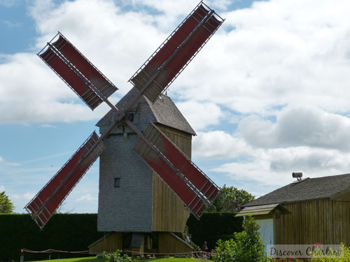 Moulin Pelard with the red sail